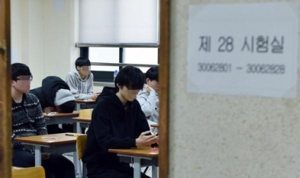 2018학년도 수능시험을 치르고 있는 학생들. 사진=경기도교육청