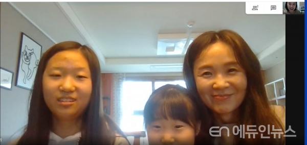 코로나19로 학교가 문을 닫은 이때, 온라인가정방문이라는 이름으로 온라인을 활용해 아이들과 부모님을 만나는 중앙기독학교.(사진=김재현 교사+