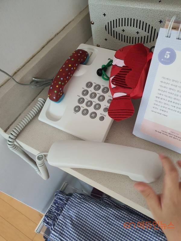 TV와 함께 집에 설치된 인터넷전화기.(사진=선우림)